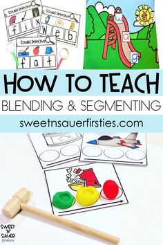 Try these ideas while teaching struggling students to master blending and segmenting words. This phonemic awareness skill is so important for readers! I'm sharing resources that include books for teachers, engaging games, and low prep hands-on activities with playdoh and toys. For more tips and tricks, I have also included a video for you to see all the reading skills in action.
