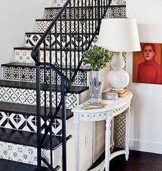 Декор ступеней лестницы