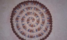 Crocheted spiral placemat