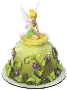 Tinkerbell Kneeling Mini Doll Cake Pick