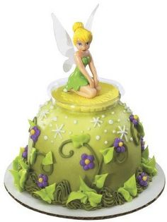 Tinkerbell Kneeling Mini Doll Cake Pick - Thought of a certain Disney-loving friend when I saw this!