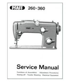 Pfaff 260 360 Service Sua