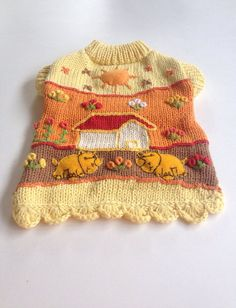 Adorable handmade XS dog sweater 100 cotton by thespecialdetails