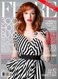 I LOVE B&W STRIPES! Especially with her red hair...*sigh* To be a redhead!
