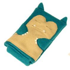 Snorlax Pokemon Nintendo DS case pouch fleece camera carrying case 3DS / DSi / DS Lite / PSP holder