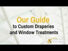 Introducing our new Custom Drapery Department, Regency's latest service that offers clients the chance to complement their window coverings with custom drape. Window Coverings, Window Treatments, Wood Shutters, Custom Drapes, Drapery, Shades, Windows, Window Dressings, Window Dressings