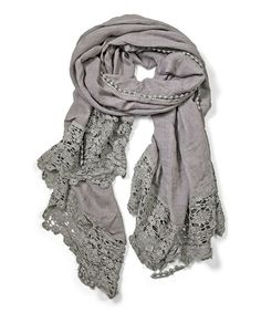 Look what I found on #zulily! Gray Sheer Paisley Embroidered Scarf by East Cloud #zulilyfinds