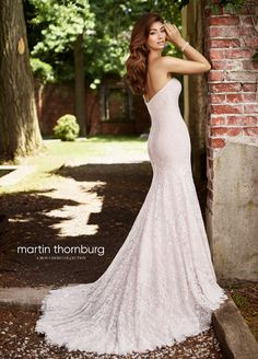 Martin Thornburg Bridal 119273 Zoe - The fabric in this Martin Thornburg for Mon Cheri Bridal style is Allover Lace, Tulle & Satin Lining Bridal Wedding Dresses, Dream Wedding Dresses, Designer Wedding Dresses, Bridal Style, Fit And Flare Wedding Dress, Perfect Wedding Dress, Mon Cheri Bridal, Pageant Gowns, Beautiful Dresses
