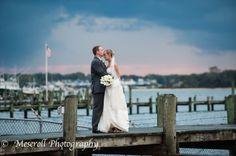 Sunset wedding at Clarks Landing, Point Pleasant NJ, Jersey Shore wedding photography, sunsets, NJ wedding photography Russ Meseroll Photography