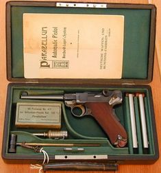 Cased 1900 early production Commercial Luger and accessories. Loading that magazine is a pain! Get your Magazine speedloader today! http://www.amazon.com/shops/raeind
