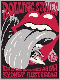 2014 Rolling Stones Sydney Australia Concert Poster