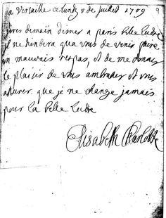 Lettre de la princesse Palatine
