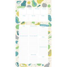 Menu and Shopping List Fridge Magnet