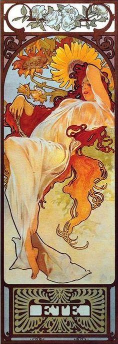 Alphonse Mucha ~ The Seasons ~ Summer (1897)