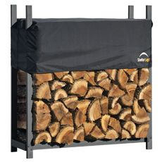 W x 4 ft. H x 1 ft. D Ultra-Duty, High-Grade Steel Firewood Rack with Premium Wood Rack and Adjustable - The Home Depot - ShelterLogic 4 ft. Ultra Duty Firewood Rack with Cover ShelterLogic 4 ft. Firewood Rack, Firewood Storage, Shed Storage, Storage Rack, Fireplace Logs, Fireplace Cover, Gas Fireplaces, Modern Fireplace, Fireplace Ideas