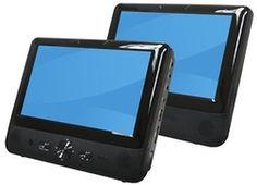 """Denver MTW-984 TWIN Portabler DVD Player 9"""" LCD Monitor Bildschirm Kopfstützensparen25.com , sparen25.de , sparen25.info"""