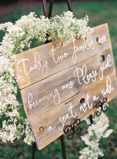 Baby's Breath Ceremony Sign