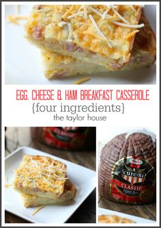 Egg and Ham Breakfast Casserole - The Taylor House