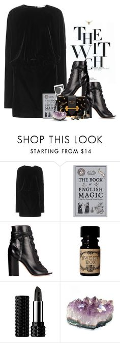 """""""Must Be The Season Of The Witch"""" by hollowpoint-smile ❤ liked on Polyvore featuring Yves Saint Laurent, CO, Gianvito Rossi, Kat Von D and modern"""