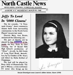 Laura's older sister Susan Branigan, 1966