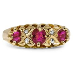 The Francis Ring from Brilliant Earth. Rubies and Diamonds set in 18k Yellow Gold (=)