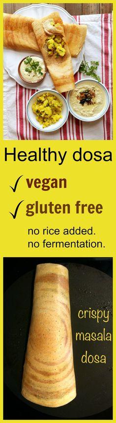 Healthy Mix dal masala dosa - no rice added
