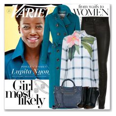"""""""Power of Women: Lupita Nyong'o"""" by coraline-marie ❤ liked on Polyvore featuring Michael Kors, Ted Baker, Balenciaga, Givenchy and Bloomingdale's"""
