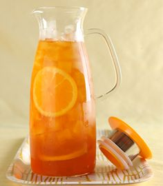 This jug from ForLife offers a wonderful solution to brewing the perfect iced version of any loose-leaf tea. Choose any tea you'd like to drink cold, add the tea leaves to your Mist and add some boiling water. A bit later, add some cold water and put it in your fridge (the direction are included.)