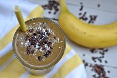 a post-workout Chocolate, Peanut Butter, Banana Smoothie - peace. love. quinoa