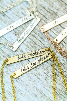 Mother Daughter Necklace Set - Silver Bar Necklace - Like Mother Like Daughter -Gift Set-Gift from Daughter-Gift for Mom-Gift Wrapped gifts for mom | gifts for mom from daughter | gifts for mom birthday last minute | gifts for mom to be | mom day gifts | gifts for mothers day | gifts for mothers day to buy | gifts for mothers day products | gifts for mothers day ideas | gifts for mothers day cheap