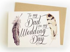 To my Dad on my Wedding Day - Single Wedding Card