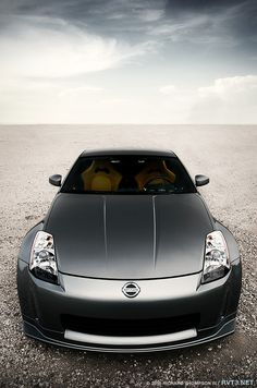 Nissan 350z - looks amazing after everything he did to it this summer!
