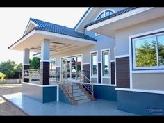 Elegant One Storey House Design - House And Decors House Layout Plans, My House Plans, Bungalow House Plans, House Layouts, Modern Bungalow House Design, Simple House Design, House Front Design, Village House Design, Kerala House Design
