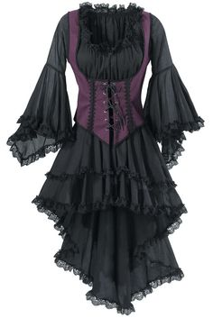 Dresses Pagan Wicca Witch:  Black Pirate Queen Dress. You can reign o'er the…