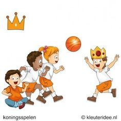 Koningsbal, koningsspelen voor kleuters