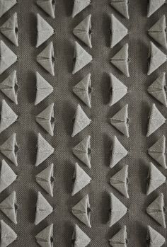 Woven Origami - fabric manipulation with folded 3D shapes to create a dimensional pattern // Susie Taylor #textiles