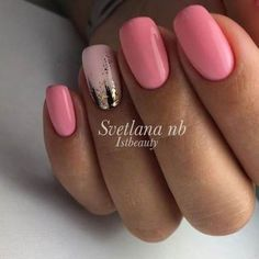 Want some ideas for wedding nail polish designs? This article is a collection of our favorite nail polish designs for your special day. Pink Glitter Nails, Fancy Nails, Trendy Nails, Pink Shellac Nails, Pink Summer Nails, Fabulous Nails, Gorgeous Nails, Hot Nails, Hair And Nails