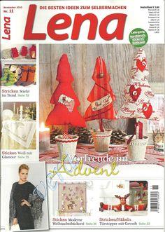 REVISTAS DE MANUALIDADES GRATIS: Lena - revista alemana de varias manualidades navideñas