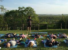 Relaxing yoga class #adamhulser