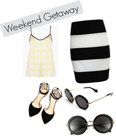 """""""Monochrome Summer"""" by maddykelly-1 on Polyvore"""