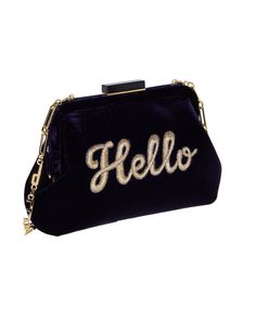 Edie Parker   Blue Lauren Hello   Lyst Fashion Week 2015, Blue Handbags, Evening Bags, Vintage Fashion, Vintage Style, Fashion Bags, Vintage Inspired, Coin Purse, Wallet