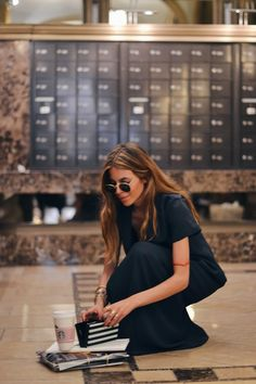 maja wyh during New York Fashion week wearing ariane ernst jewelry