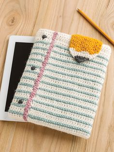 Here is a fun tablet cover to crochet for back to school or any day! It looks…