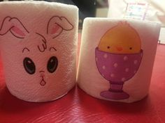 Embroidered Easter toilet paper