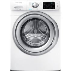 Samsung 4.2 cu. ft. Front Load Washer with Steam in White, ENERGY STAR-WF42H5200AW - The Home Depot