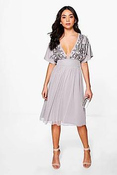 Boutique Megan Embellished Skater Dress