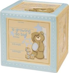 $24.00 Baby Baby Boy Bear Personalized Keepsake Bank-Blue -  http://www.amazon.com/dp/B000F1KID8/?tag=pin2baby-20
