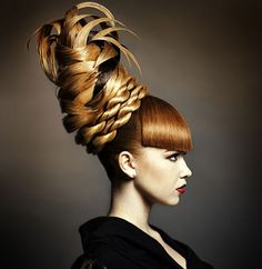 I would absolutely love this for a fashion show hair style! Palm tree? Bee hive?