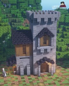 Minecraft Building Plans, Minecraft Farm, Minecraft Survival, Minecraft Construction, Cool Minecraft Houses, Minecraft Crafts, Minecraft Buildings, Minecraft Ideas, Minecraft Medieval Tower