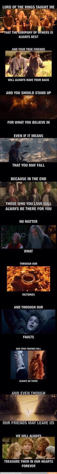This is why I love the Lord of the Rings,the lessons it taught me.